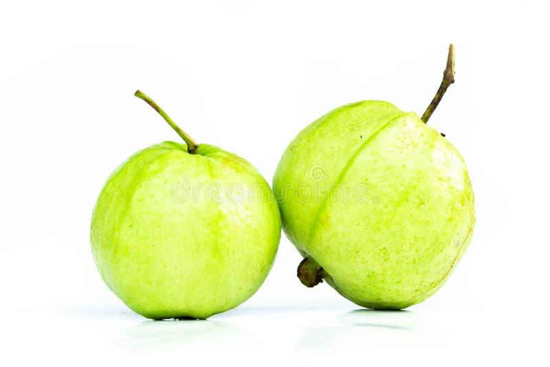 Sluit Guave omhoog tropisch fruit op witte achtergrond Het concept van het voedsel stock afbeeldingen