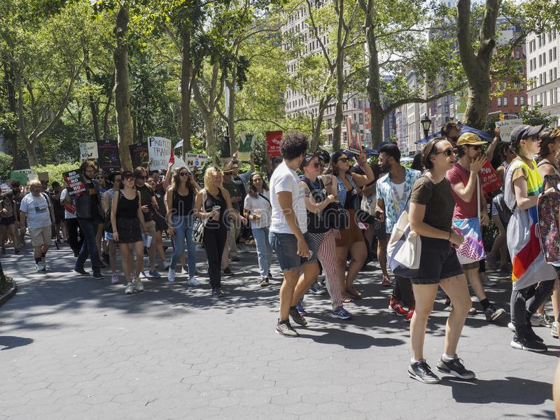 Sluit het Kampenprotest stock foto's