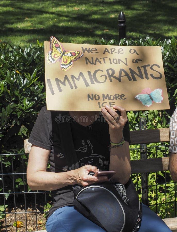 Sluit het Kampenprotest royalty-vrije stock fotografie