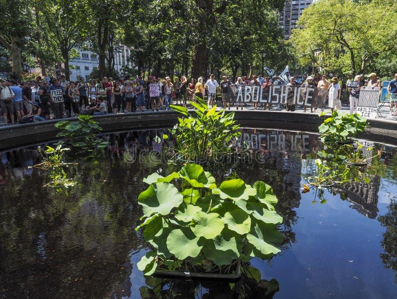 Sluit het Kampenprotest stock fotografie