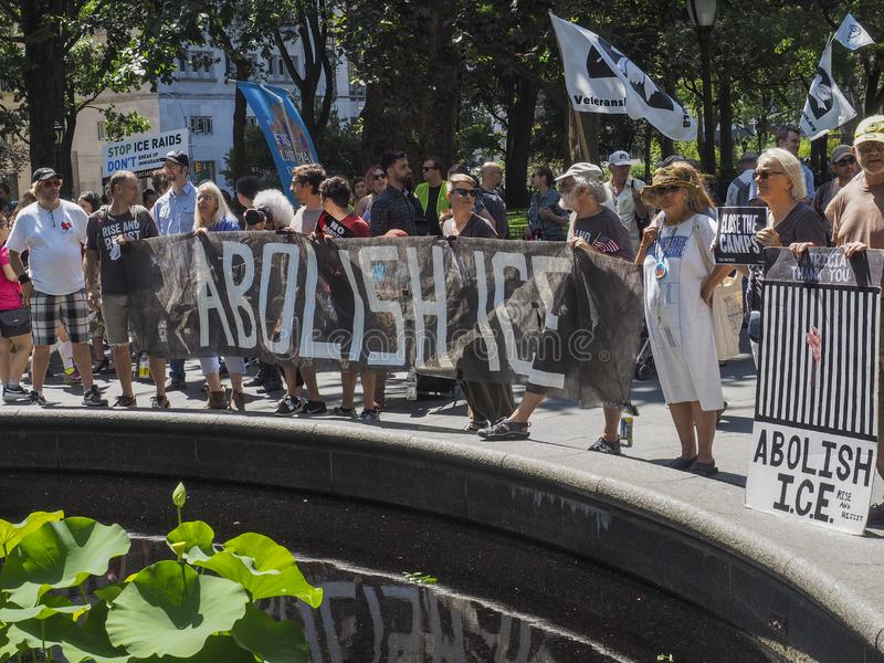Sluit het Kampenprotest royalty-vrije stock afbeeldingen