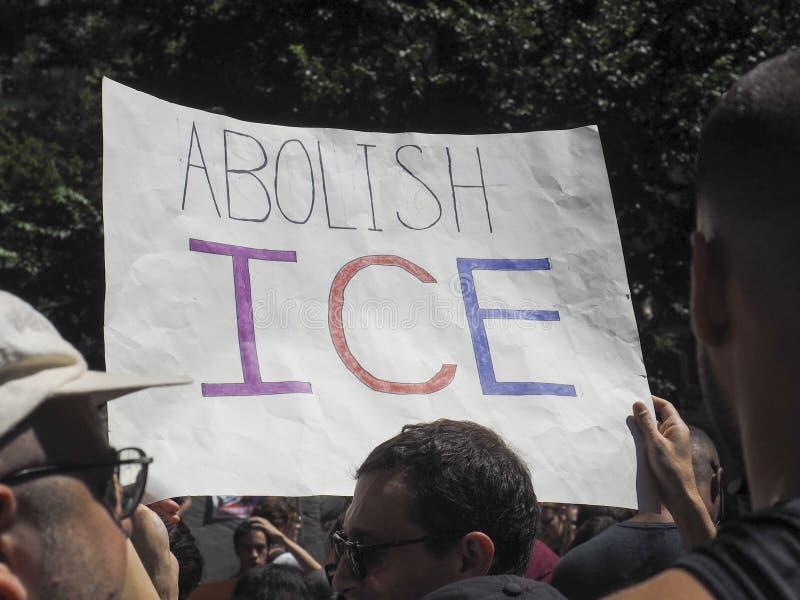 Sluit het Kampenprotest stock afbeelding