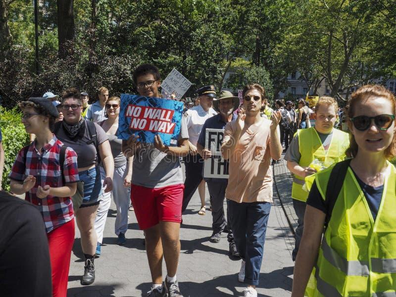 Sluit het Kampenprotest royalty-vrije stock foto