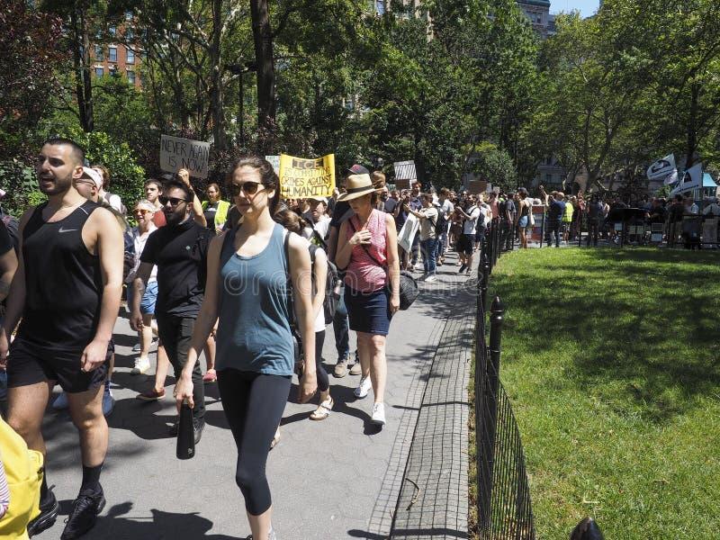 Sluit het Kampenprotest stock foto