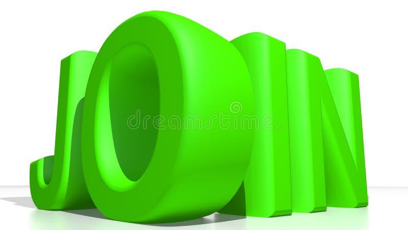 SLUIT me aan bij groen stock illustratie