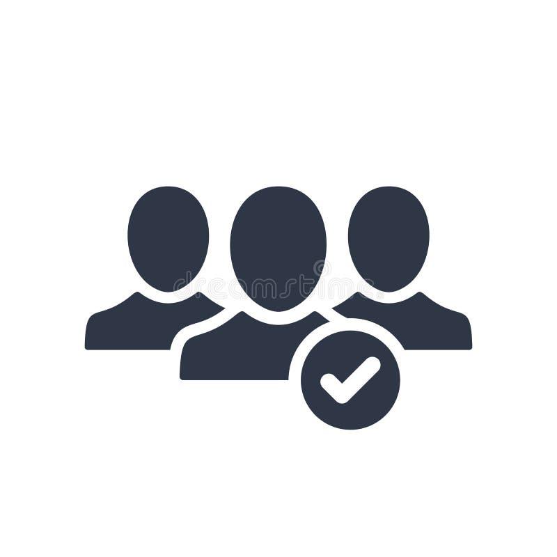 Sluit me aan bij het communautaire pictogram stock illustratie