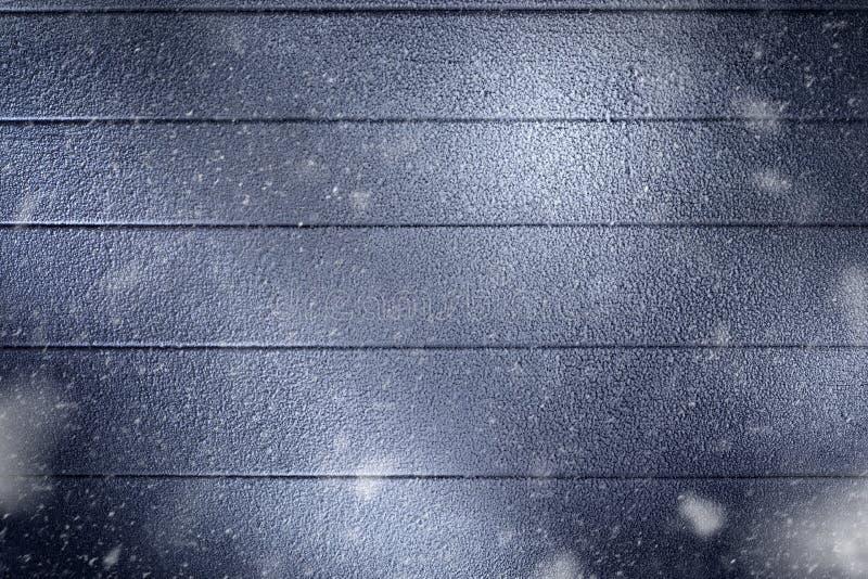 Sluit mening van omhoog rugdekking de winter houten stock foto