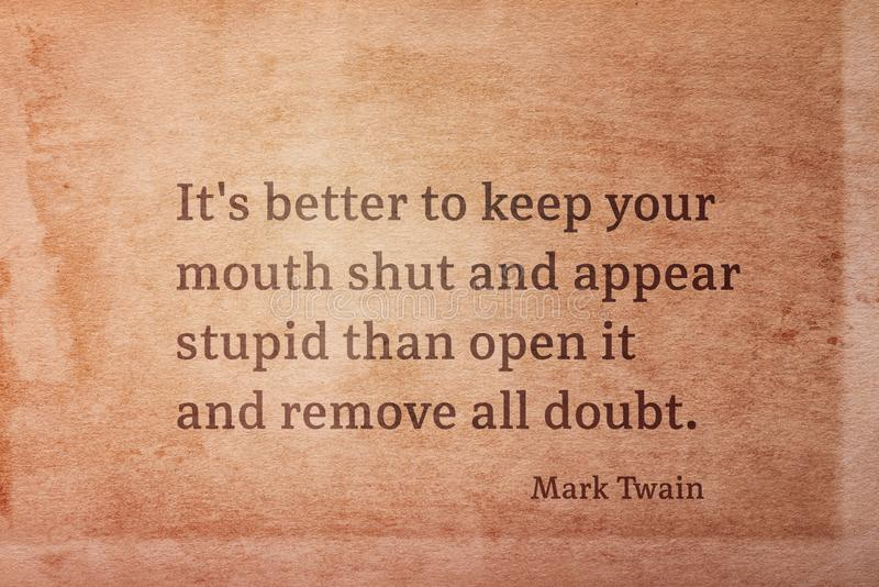 Sluit mond Twain stock afbeeldingen