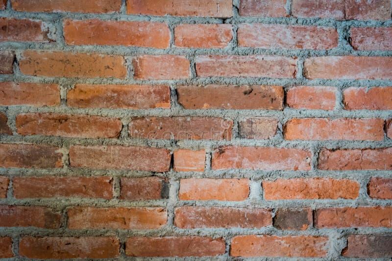 Sluit omhoog bakstenen muurtextuur Bakstenen muurachtergrond stock afbeeldingen