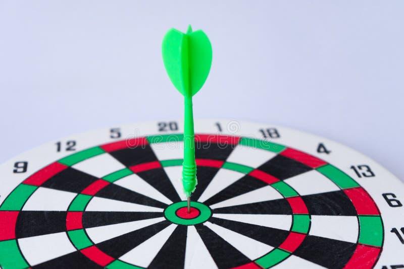 Sluit omhoog dartboard royalty-vrije stock afbeeldingen