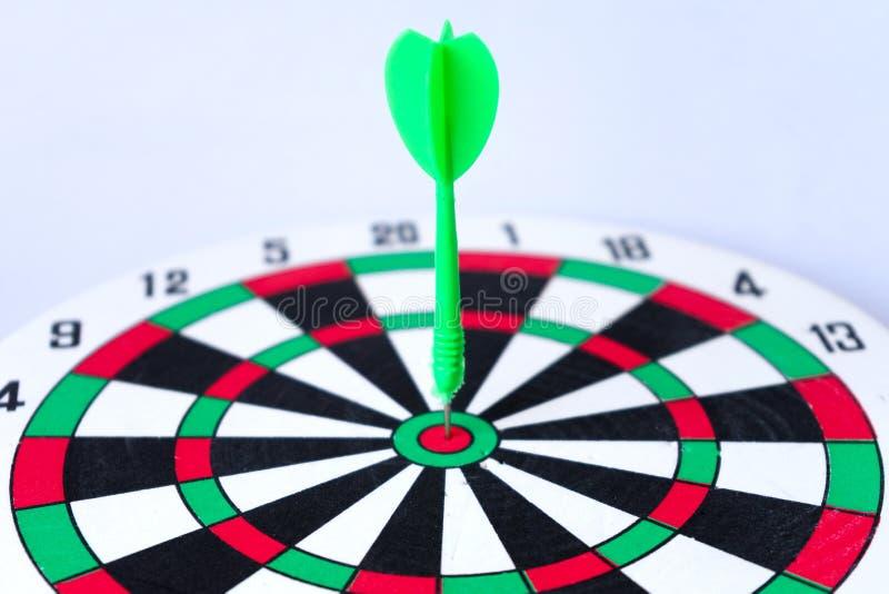 Sluit omhoog dartboard stock afbeelding