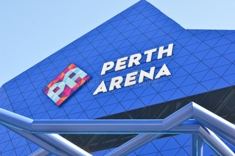 Sluit omhoog de Moderne Arena Australië van architectuurperth stock foto