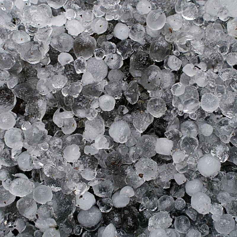 Hagel, hagelstenen - bevroren ijsmacro stock foto