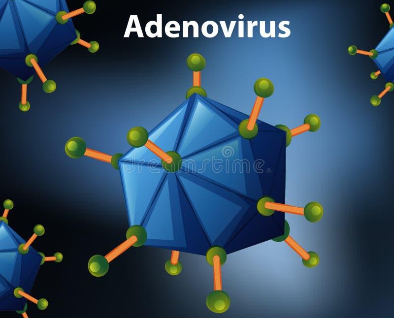 Sluit omhoog diagram voor Adenovirus stock illustratie