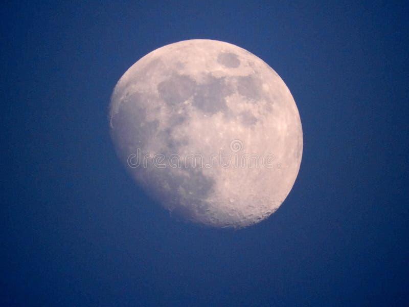 Sluit omhoog foto van maan in de nacht royalty-vrije stock foto