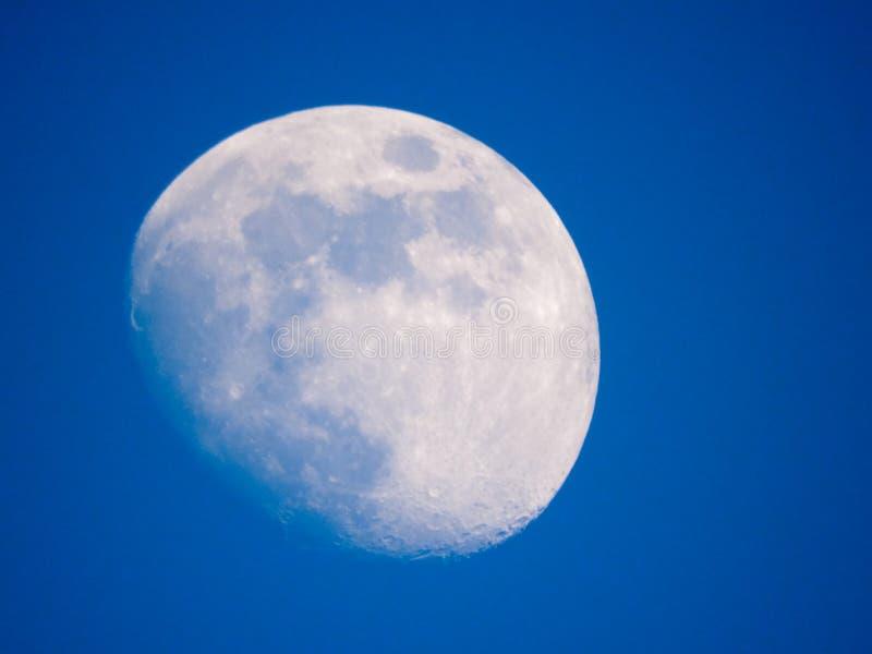 Sluit omhoog foto van maan in de nacht royalty-vrije stock foto's