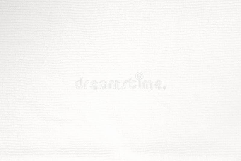 Sluit omhoog geschoten van de witte textuur van de microfiberdoek voor achtergrond stock afbeeldingen