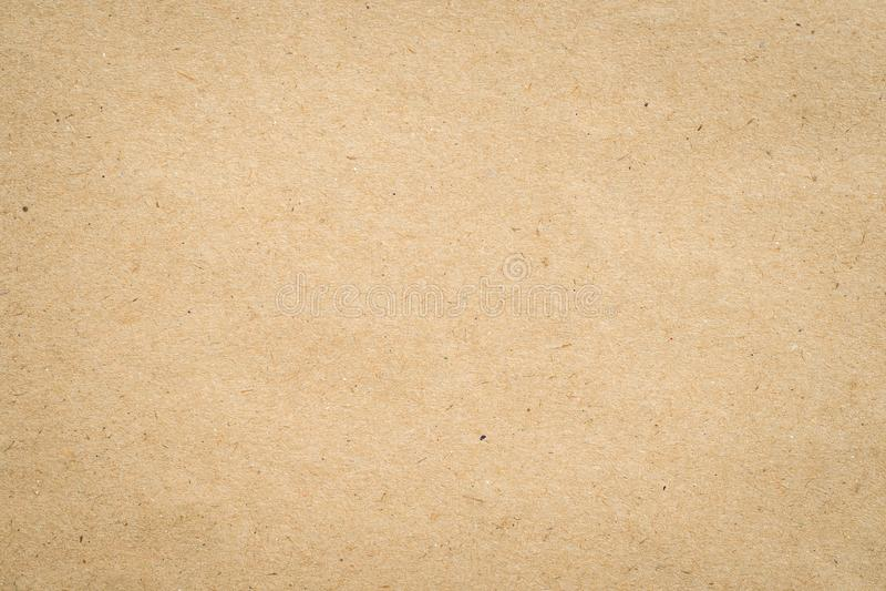 Sluit omhoog het pakpapiertextuur en achtergrond van kraftpapier royalty-vrije stock afbeelding