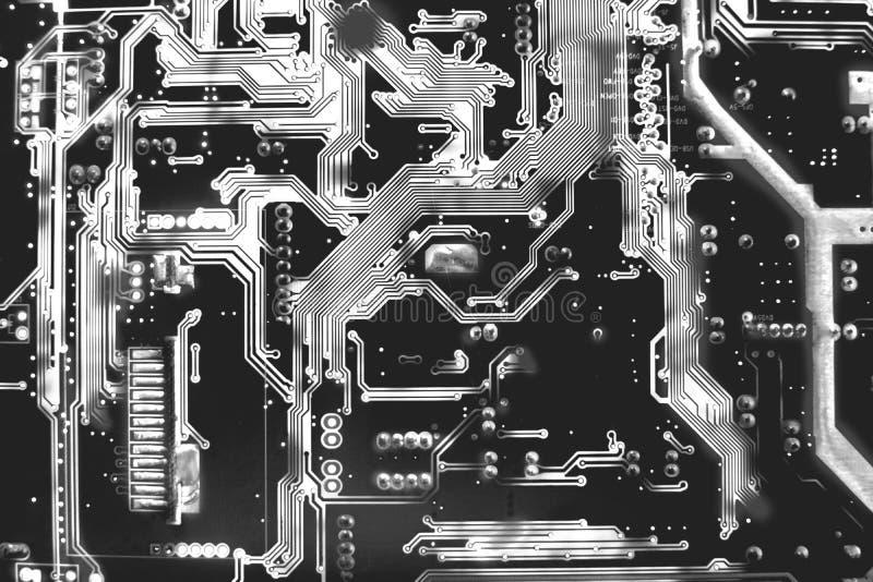 Sluit omhoog hoogste mening van het patroon achterkant van de Kringsraad van elektron royalty-vrije stock afbeelding