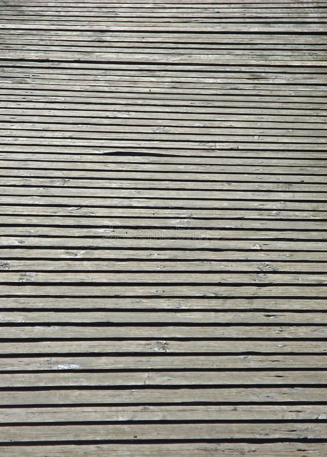 Sluit omhoog houten gang stock afbeeldingen