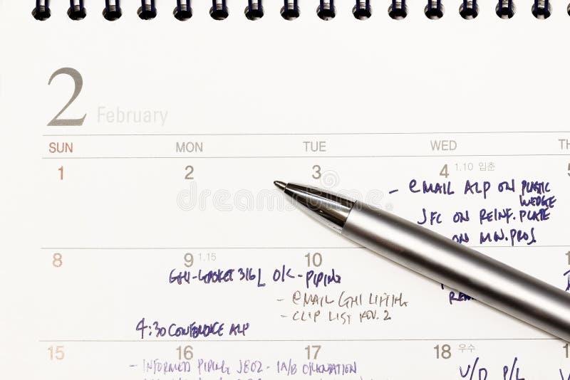 Sluit omhoog kalenderpagina stock afbeeldingen