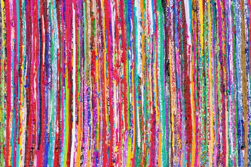 Sluit omhoog kleurrijke hand geweven dekenachtergrond royalty-vrije stock afbeeldingen
