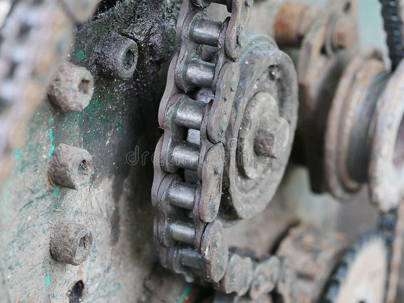 Sluit omhoog mechanismeketen stock foto