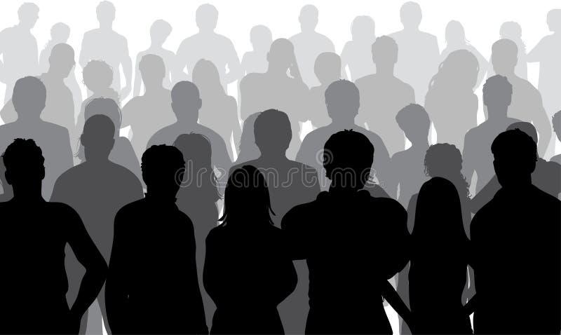 Sluit omhoog menigte vector illustratie
