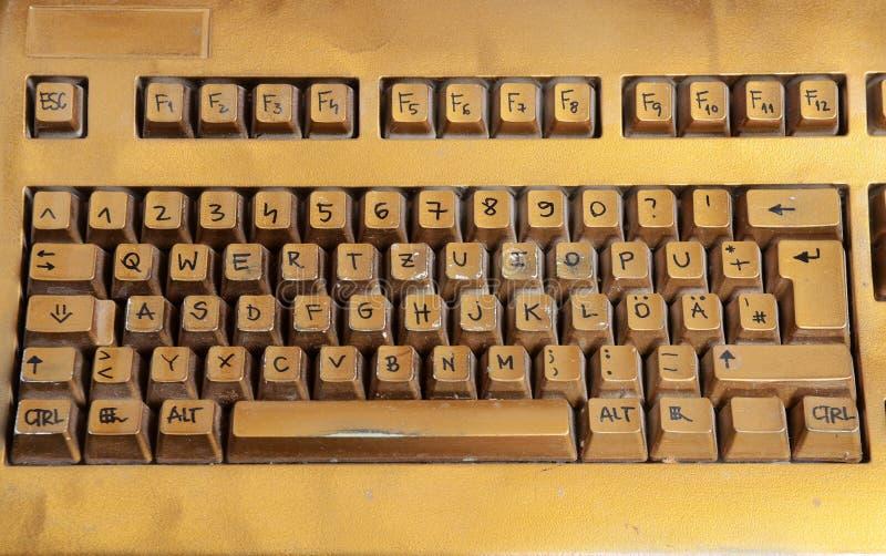 Sluit omhoog mening over toetsenbord stock afbeeldingen