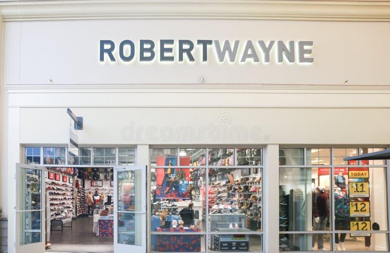 Sluit omhoog mening van de Robert Wayne-fabrieksopslag in New Jersey royalty-vrije stock foto's