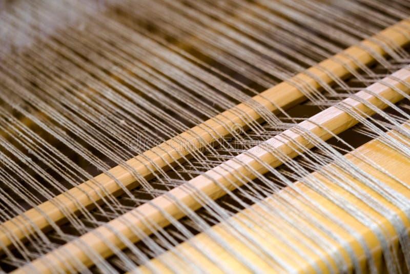 Sluit omhoog mening van een traditioneel weefgetouw royalty-vrije stock fotografie