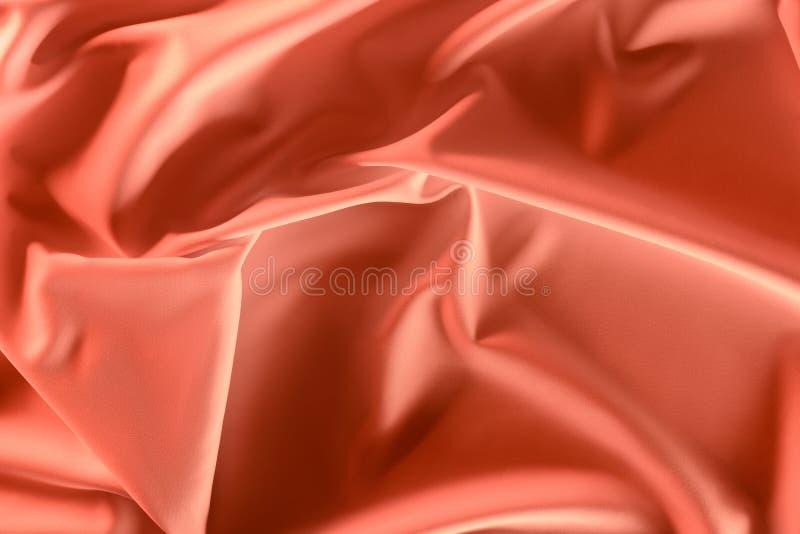 sluit omhoog mening van elegante roze zijdeachtige stof stock afbeeldingen