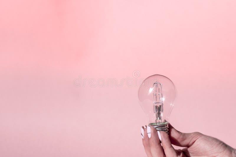 Sluit omhoog mening van witte gloeilamp stock foto