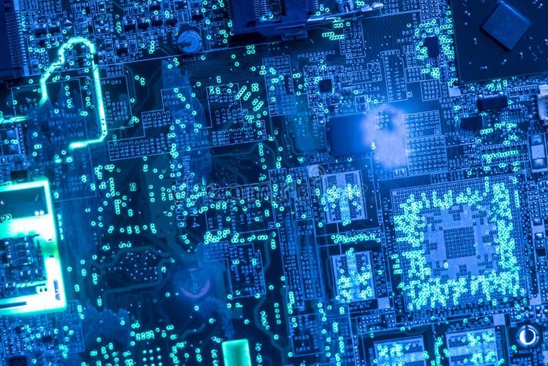 Sluit omhoog mooie nano elektronische technologieraad F royalty-vrije stock afbeeldingen