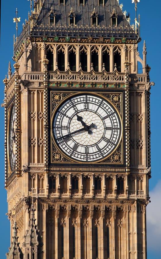 Sluit omhoog ontsproten van de Big Ben in Londen stock fotografie