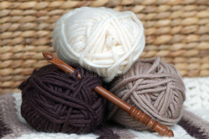 De ballen van de wol stock afbeelding