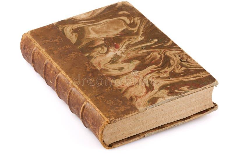 Sluit omhoog ontsproten van een antiek boek stock afbeelding
