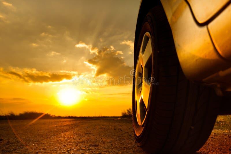 Sluit omhoog ontsproten van een auto royalty-vrije stock afbeeldingen