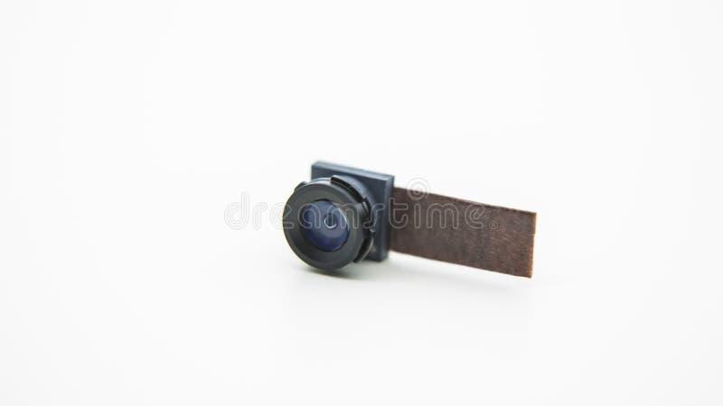 Sluit omhoog op een cameramodule voor mobiele telefoon Close-up van Smartphone-Lens royalty-vrije stock foto