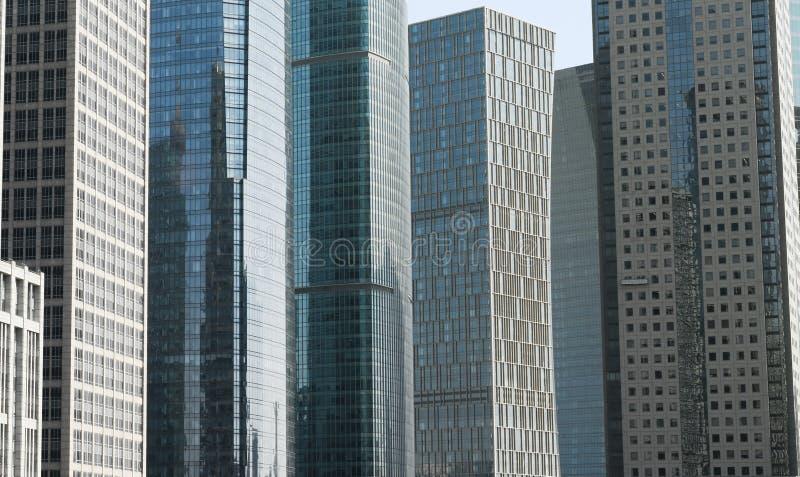 Sluit omhoog op ScyScrapers De wolkenkrabbers van Shanghai Lujiazui CBD stock fotografie