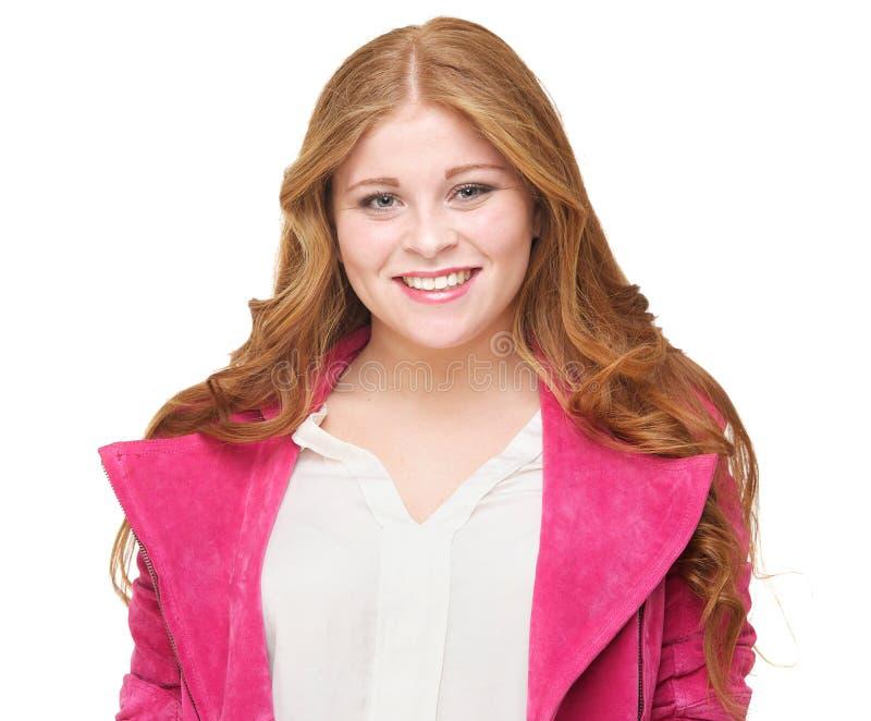 Sluit omhoog Portret van het Mooie Jonge Glimlachen van de Vrouw stock fotografie