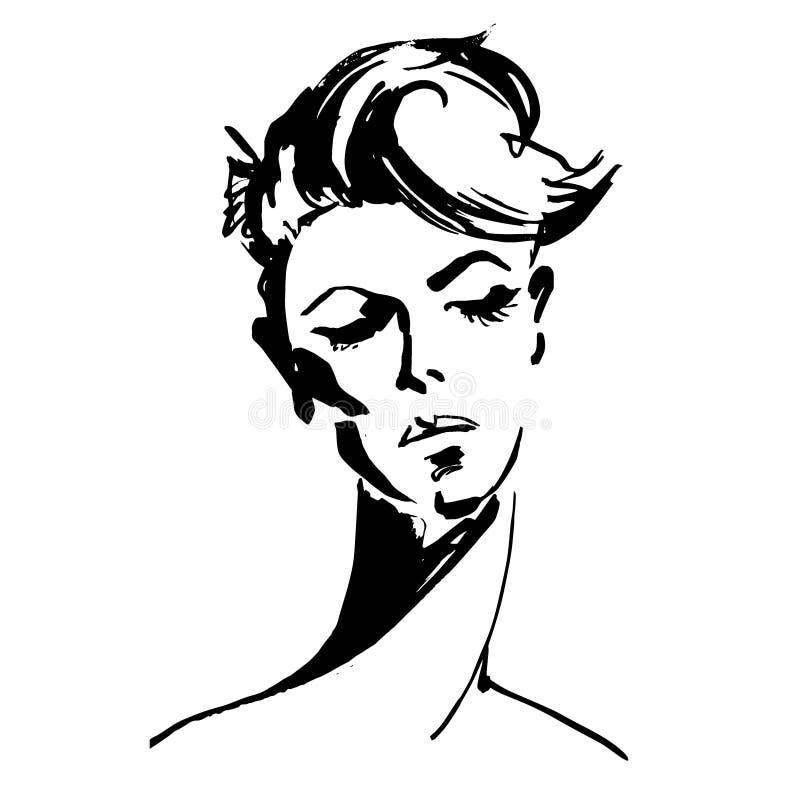 Sluit omhoog portret van jonge vrouw stock fotografie