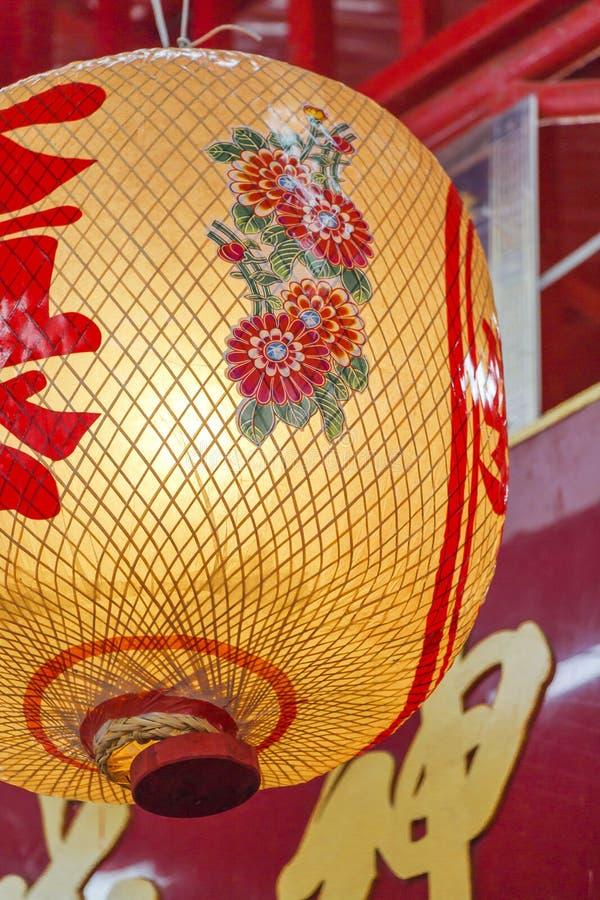 Sluit omhoog rode Chinese lantaarn royalty-vrije stock afbeelding