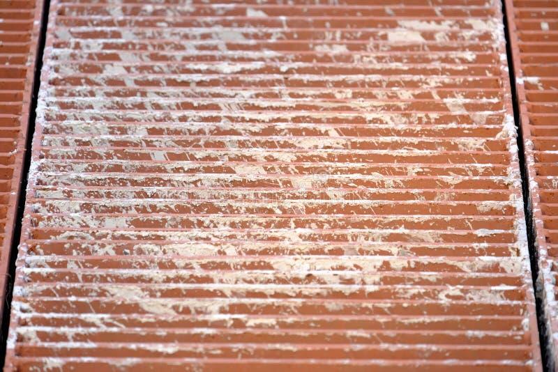 Sluit omhoog roestige staalgrating voor achtergrondtextuur royalty-vrije stock afbeelding