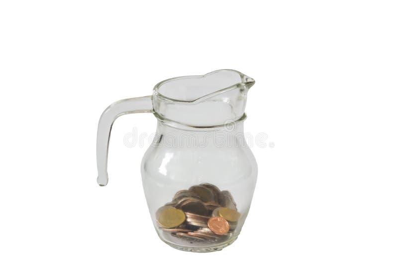 Sluit omhoog sparen geld royalty-vrije stock afbeeldingen