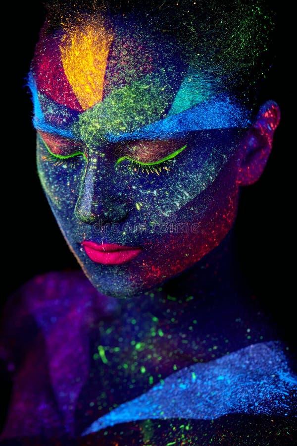 Sluit omhoog UV abstract portret royalty-vrije stock fotografie