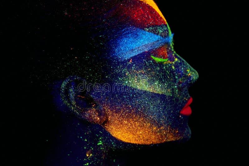 Sluit omhoog UV abstract portret stock afbeeldingen