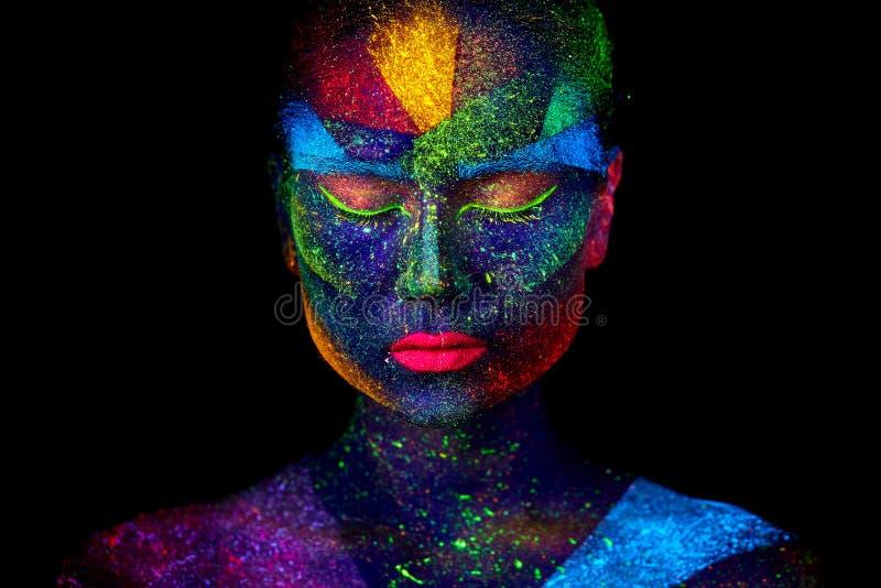 Sluit omhoog UV abstract portret royalty-vrije stock afbeelding