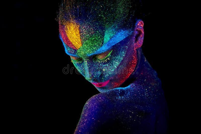 Sluit omhoog UV abstract portret stock foto