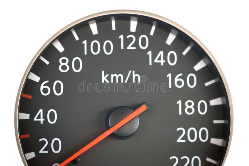 Sluit omhoog van autosnelheidsmeter stock fotografie